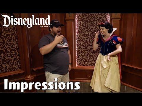 Doing Impressions of All 7 Dwarfs to Snow White! - Disneyland Impressions