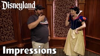 Doing Impressions of All 7 Dwarfs to Snow White! - Disneyland Impressions