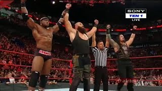 WWE RAW 30 April 2018 - Roman Reings  Braun Strowman  Bobby Lashley Vs Jinder Mahal Sami Kevin