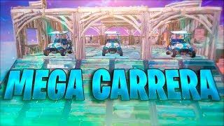 CARRERA ÉPICA CON KARTS  EN EL NUEVO *PATIO DE JUEGOS* -  FORTNITE