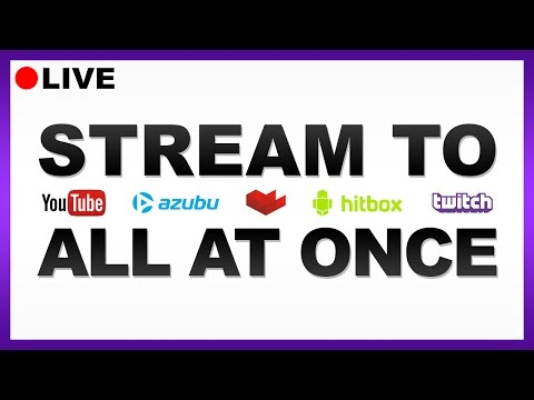 HOW TO: Stream On Multiple Platforms! [Easy]