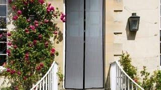 видео Антимоскитная сетка на дверь магнитная штора: как установить на пластиковую балконную