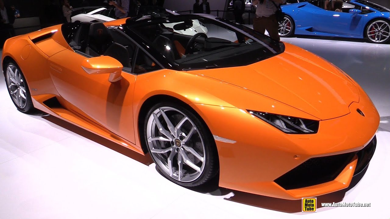 huracan interior orange. 2016 lamborghini huracan lp6104 spyder exterior interior walkaround 2015 frankfurt motor show youtube orange