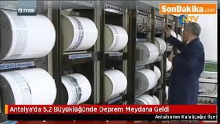 Antalya'da 5,2 Büyüklüğünde Deprem Meydana Geldi