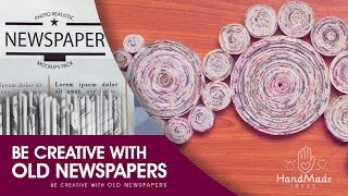 Newspaper Craft Tutorial│Be Creative With Old Newspapers [පරණ පත්තර වලින් ලස්සන දෙයක් හදන්න]