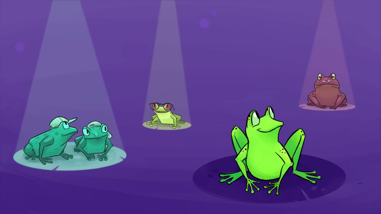 frog animation video - YouTube