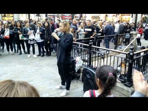 London Girl showing impressive beat boxing (Horizontal after 20s)