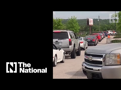 Fights and long queues at US petrol stations as fuel shortage hits