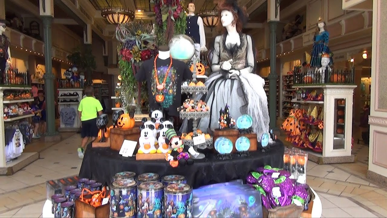 halloween merchandise display at magic kingdom emporium 8/20/13