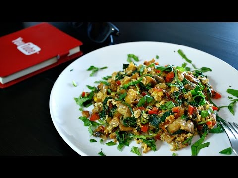 The Best Scrambled Eggs Ever With Veggies!