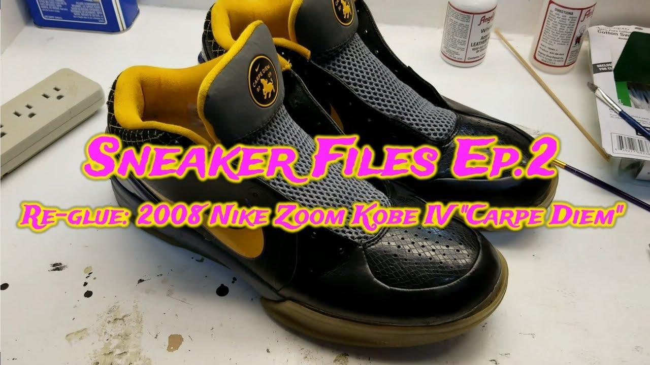 fa6f8bc240d4 How to Sneaker Restoration Re-glue Nike Zoom Kobe IV (4) Carpe Diem Shoe  repair sole separation