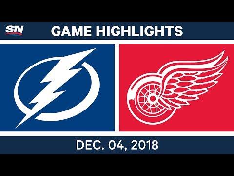 NHL Highlights | Lightning vs. Red Wings - Dec 4, 2018