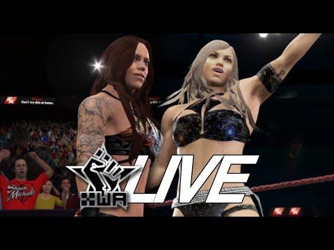 WWE 2K17 - Abigail Rooker Vs. Sierra Kay (XWA Live Tour #5) w/commentary
