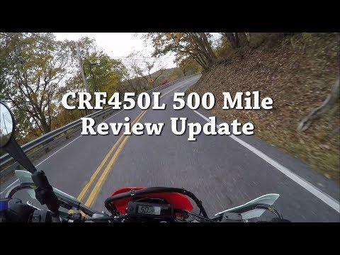 CRF450L - 500 Mile Ride Review Updates