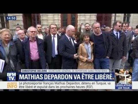 """Reporters sans Frontières: Mathias Depardon """"devrait arriver ce soir à Paris"""""""