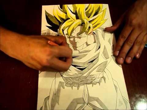 Dragon Ball Z  como dibujar a Goku super sayayin  YouTube