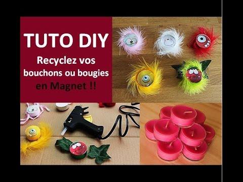 Tuto diy recyclage bouchon plastique ou bougie en magnet - Que faire avec des bouchons ...