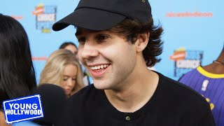 David Dobrik Reacts to Being Called a YouTube Sensation | Kids' Choice Sports Awards