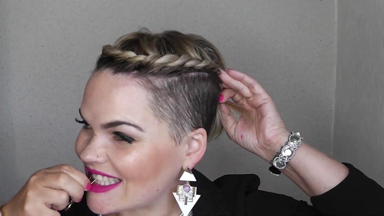 8 Easy Short Hair Styles Pixiecut Undercut Tutorial Youtube