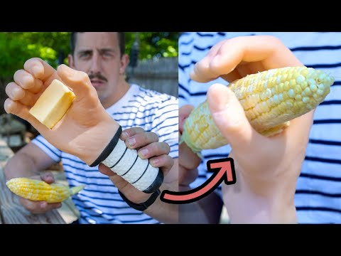 My invention helps you butter your corn on the cob (The Cob Quicky)
