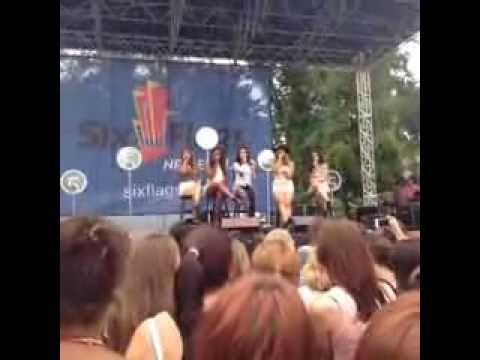 Fifth Harmony Performing Stay at Six Flags
