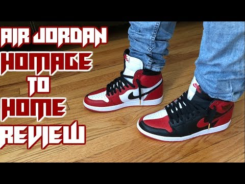 a5842c9449b4b5 Jordan 1 Homage To Home Exclusive numbered pair Review - YouTube