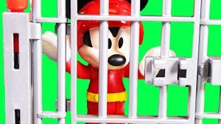 Mickey Mouse Goes To Jail Disney Cars 3 Lightning McQueen Bails Mickey Mouse Out Of Jail