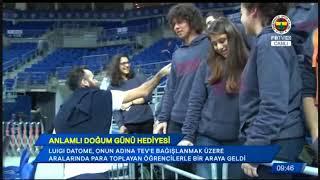 Fenerbahçe taraftarları Luigi Datome'ye doğum gününde unutulmaz bir hediye verdiler.