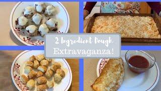 2 Ingredient Dough Extravaganza!  Cinnamon Rolls, Stromboli, Pizza, Pretzels