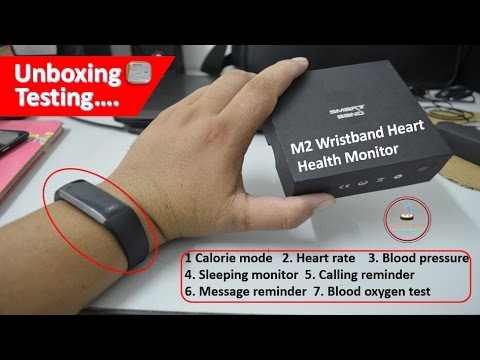 Fitness Tracker Bracelet M2 Sport Watch with Heart Rate Monitor Pedometor Unboxing checkup in Nepali