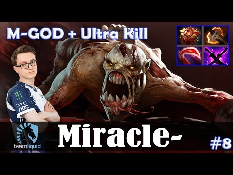 Miracle - Lifestealer Safelane | M-GOD + Ultra Kill | Dota 2 Pro MMR Gameplay #8 thumbnail