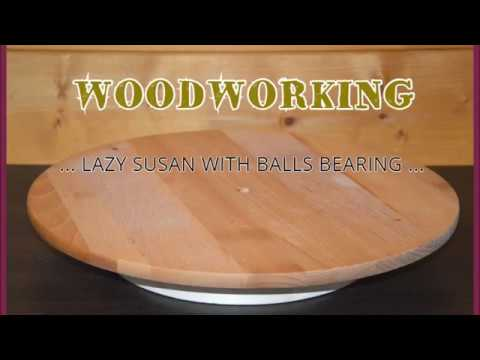 Make a simple lazy susan 100% of wood - espositore girevole 100% in legno FAI DA TE