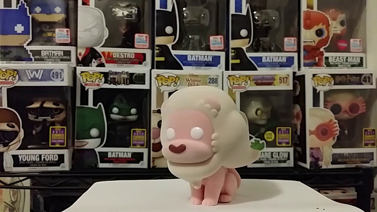 Funko Pop Flocked Friday Lion From Steven Universe Series 2 Youtube