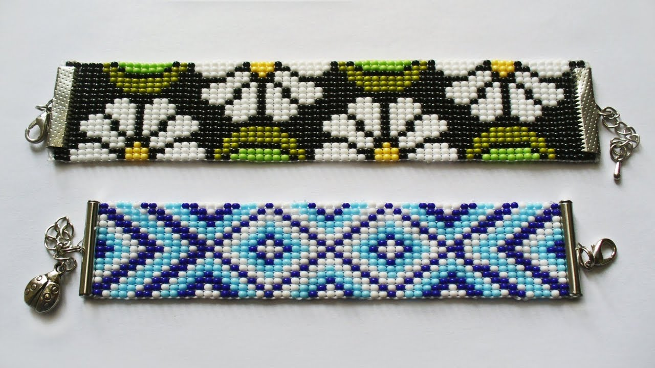 Браслеты из бисера на станке схемы плетения.