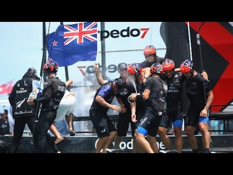 Team New Zealand win the America's Cup