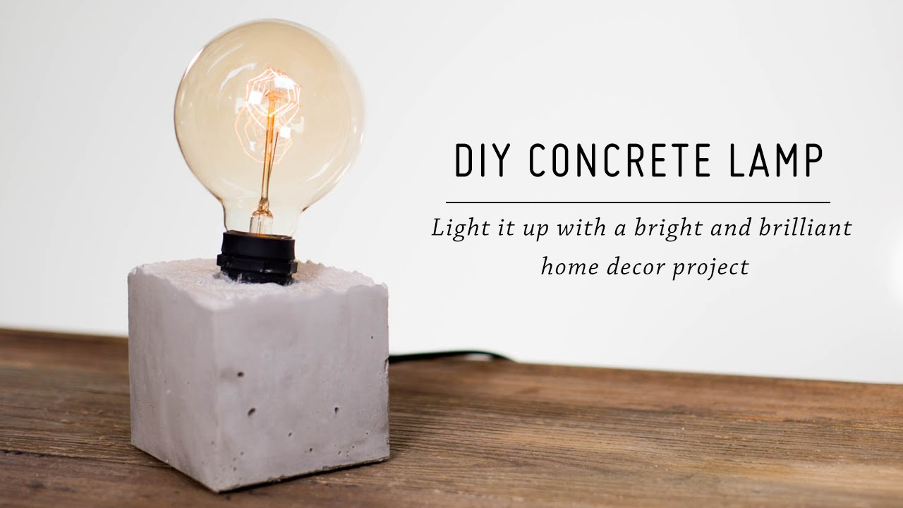DIY Concrete Lamp | Home Decor Tutorial | Mr Kate   YouTube