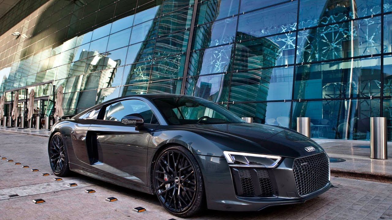 blacked out 610hp 2017 audi r8 v10 plus in crazy locations. Black Bedroom Furniture Sets. Home Design Ideas