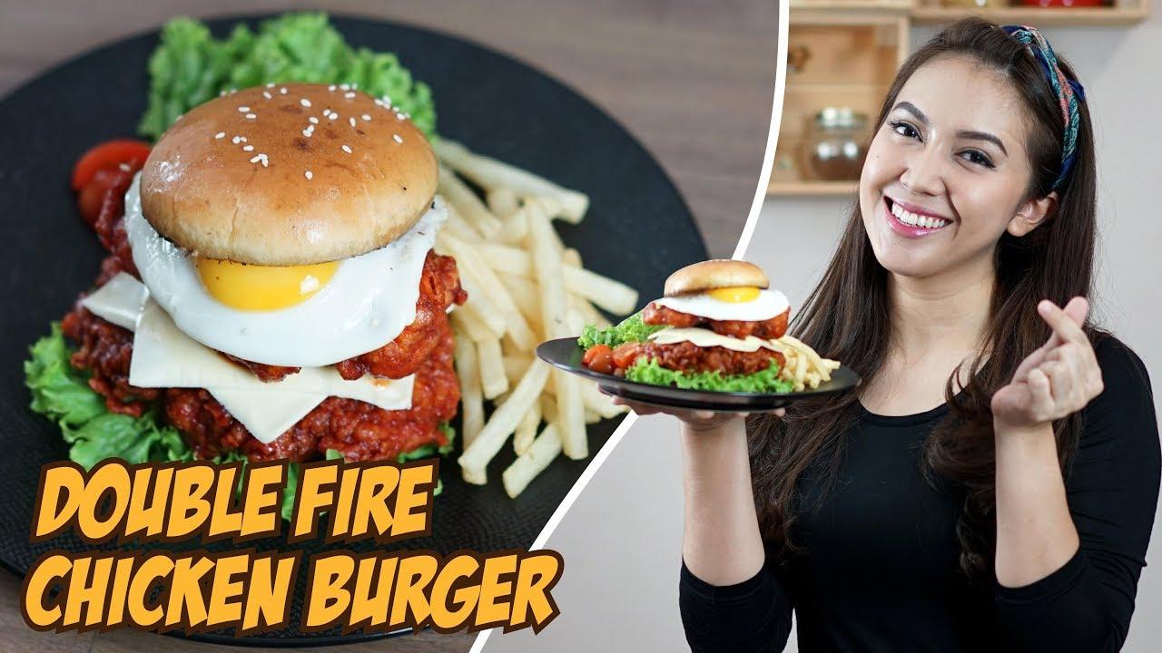 Burger Ayam Pedas Dari Neraka Ala Korea Youtube