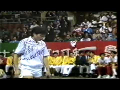 1990 Asiad Team Badminton Yang Yang 杨阳vs Rashid Sidek Youtube