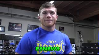 CANELO REACTION TO MIKE TYSON SAYS HE BEATS BJS IN 1 TO 2 RDS  EsNews Boxing