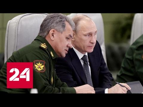 Шойгу доложил Путину об окончании операции по взятию Пальмиры