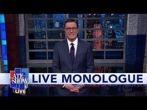 "Sanders, Warren Clash Over ""Woman President"" Question At Iowa Debate: Colbert's LIVE Monologue"