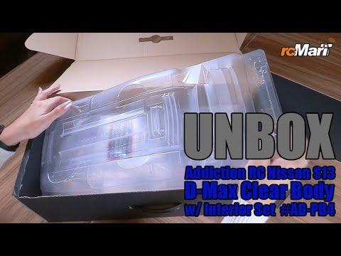Addiction RC Nissan S13 D-Max Clear Body w//Interior Set For 1:10 Drift #AD-PB4