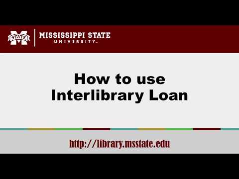 Mississippi State University Library: Interlibrary Loan Tutorial
