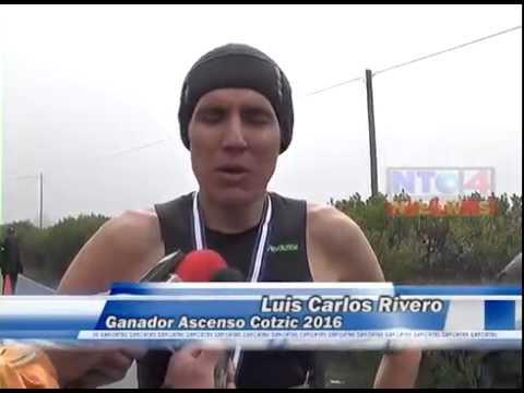 LUIS CARLOS RIVERO,  GANADOR DE LA CUARTA EDICIÓN DEL ASCENSO AL COTZIC