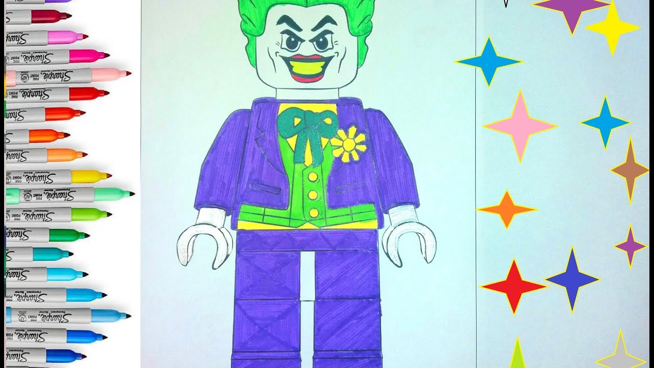 LEGO JOKER Coloring Pages for Children | Coloring Book Lego Joker ...