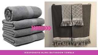 Transforming $2.00 bath towels | SUPER Easy & Inexpensive DIY Tutorial !!