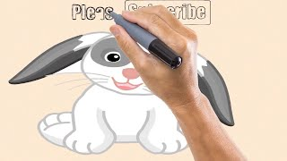 How to draw a rabbit documentary: Coloring pages for children