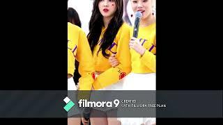 Cute girl dancing in korean