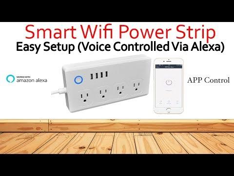 Must Have Wi-Fi Smart Power Strip Alex Compatible (SUPER EASY SETUP)